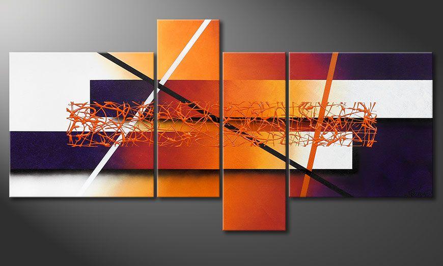 Handgemaltes Bild Afterglowing Memories 130x65x2cm