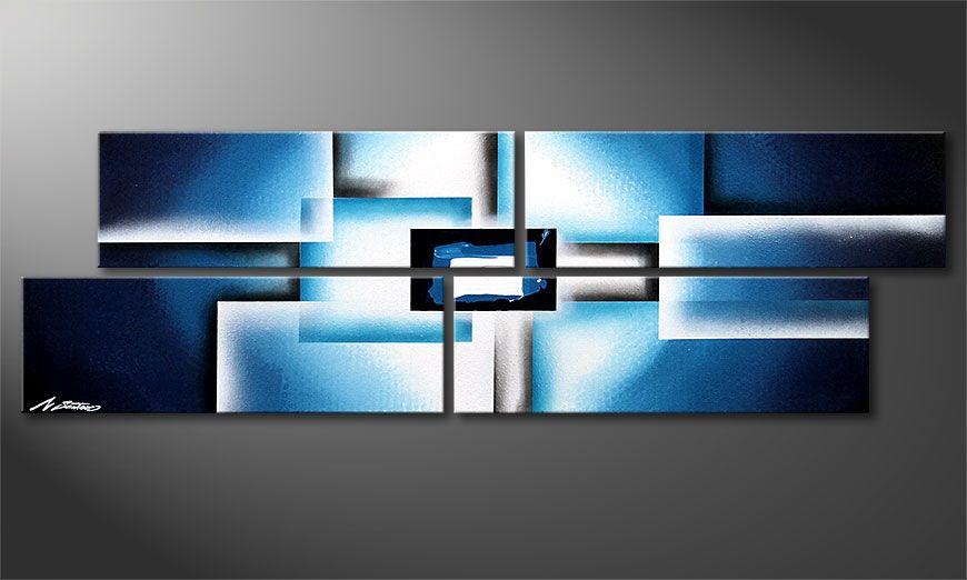 Keilrahmenbild Polar Glow 130x40x2cm