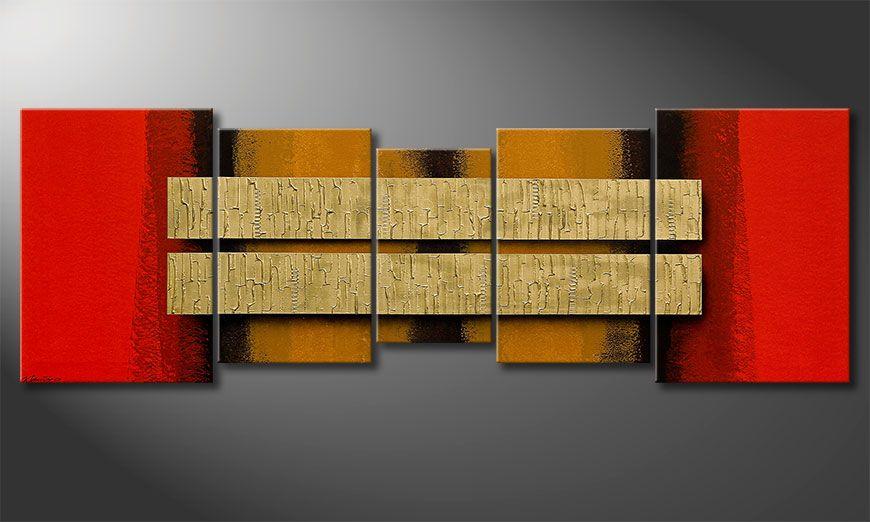 Two Treasures 210x70x2cm Wandbild