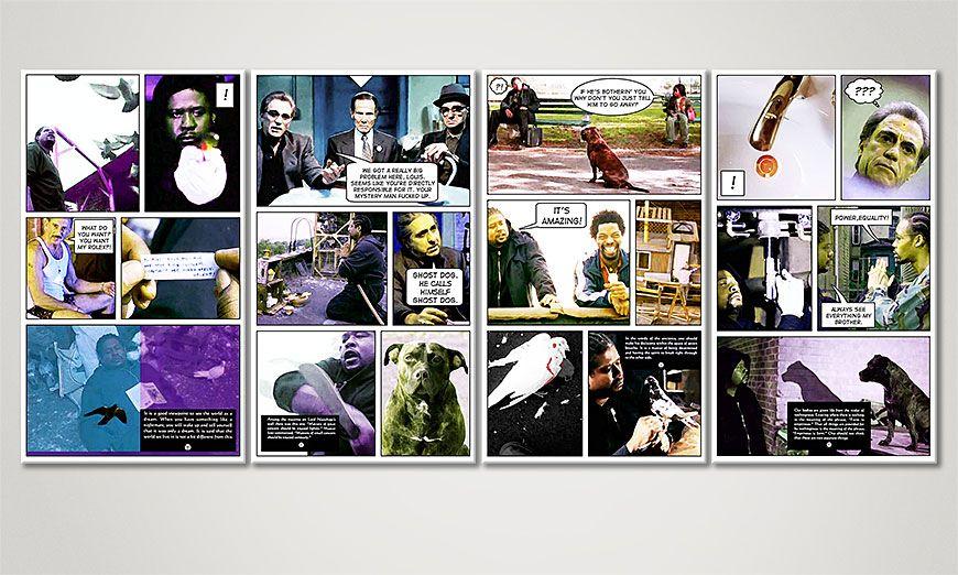 Unser Wandbild Ghost Dog 160x70x2cm