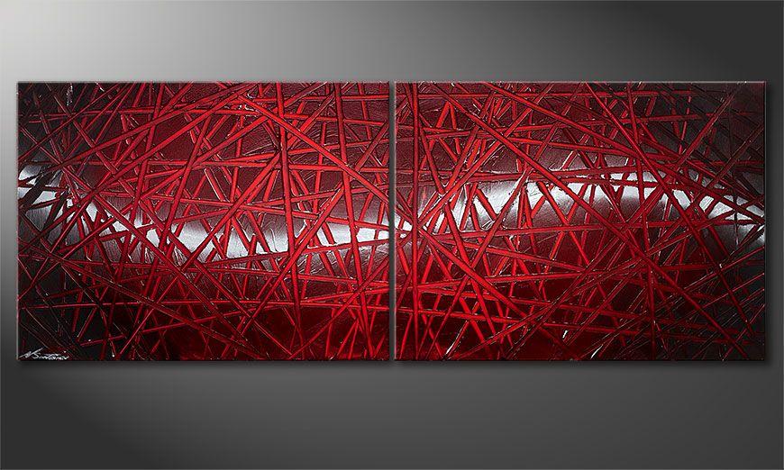 Unser Wandbild Red Push 160x60x2cm