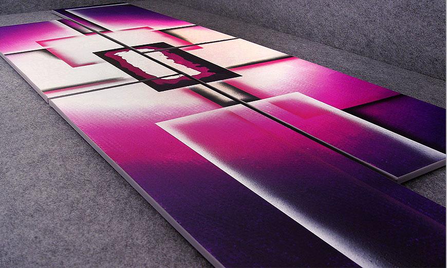 Unser XXL Bild Purple Sun in 250x80x2cm