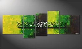 Das Leinwandbild 'Green Night' 190x70cm