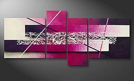 Das Leinwandbild 'Purple Lights' 130x65cm