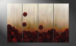 Das Wandbild 'Bed of Roses' 160x100cm