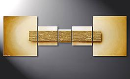 Das Wandbild 'Broken Gold' in 180x60cm