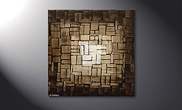 Das Wandbild 'Cubic Light' in 80x80cm