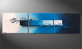 Das Wandbild 'Deep Sea Signs' 225x60cm