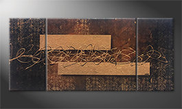 Das Wandbild 'Emotional Treasure' 180x80cm