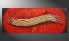 Das Wandbild 'Golden Wing' 150x60