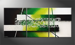 Das Wandbild 'Green Connection' 180x80cm