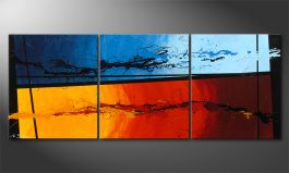 Das Wandbild 'Hot and Cold' 150x60cm