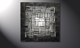 Das Wandbild 'Light Cube' in 80x80cm