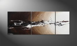 Das Wandbild 'Light Eruption' 130x50cm