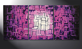 Das Wandbild 'Purple Afterglow' 150x70cm