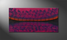 Das Wandbild 'Purple Tree' 120x60cm