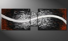 Das Wandbild 'River of Nowhere' 180x60cm
