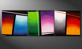 Das Wandbild 'Wave of Colors' 210x70cm