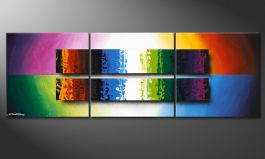 Das bunte Wandbild 'Expression of Colours' 150x50cm
