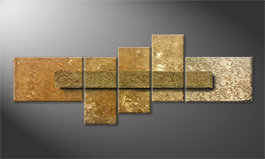 Unser Wandbild 'Golden Treasure' 210x80cm