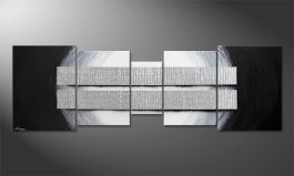 Unser XXL Wandbild 'Blocs of Silver' in 250x80cm