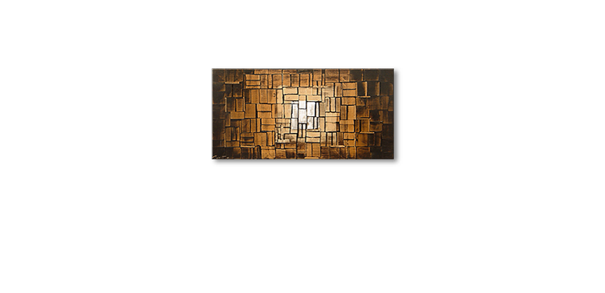 Das Wandbild Earth Cubes in 120x60cm