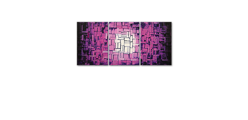 Das Wandbild Purple Afterglow 150x70cm