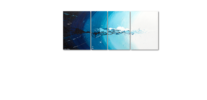 Das Wandbild Water Splash in 170x70cm