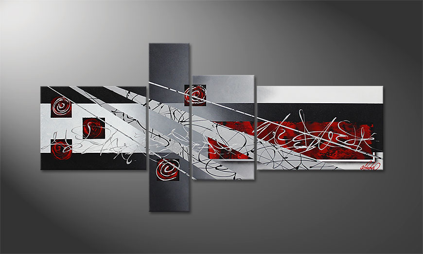 Black Lights 160x80x2cm Wandbild