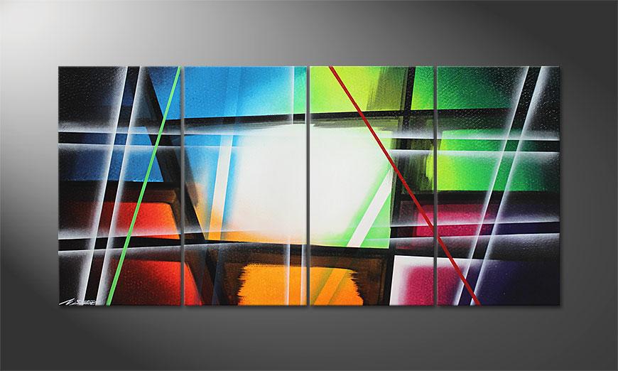 Das Leinwandbild Prisma 160x80x2cm