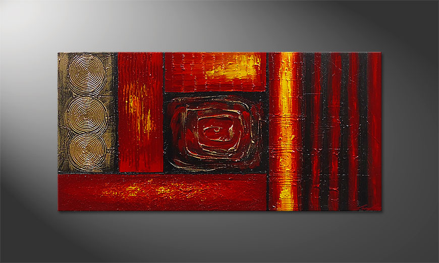 Das Wandbild Emotional Moments 120x60x2cm