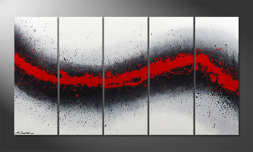 Das Wandbild Glowing Trace 150x80x2cm