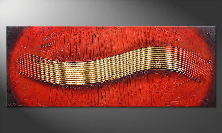 Das Wandbild Golden Wing 150x60