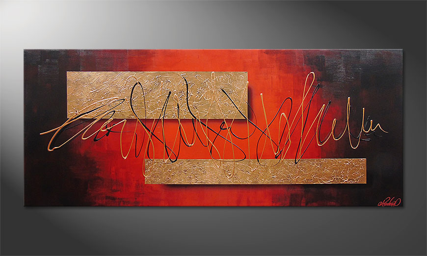Das Wandbild Golden Works 180x80x2cm