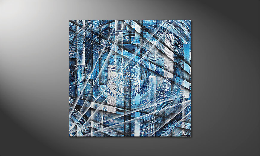 Das Wandbild Inner Ice 100x100x2cm