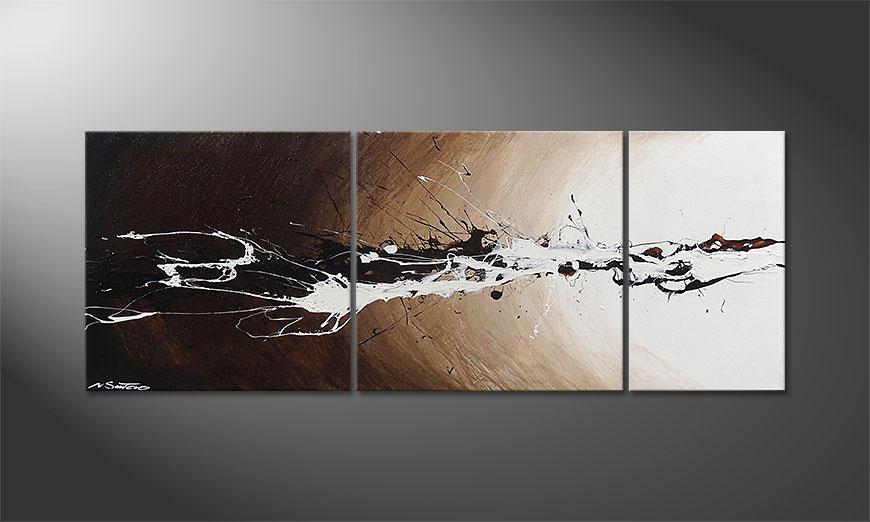Das Wandbild Light Eruption 130x50x2cm