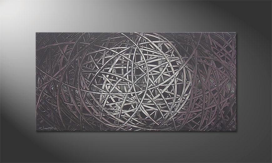 Das Wandbild Moonshine 120x60x2cm