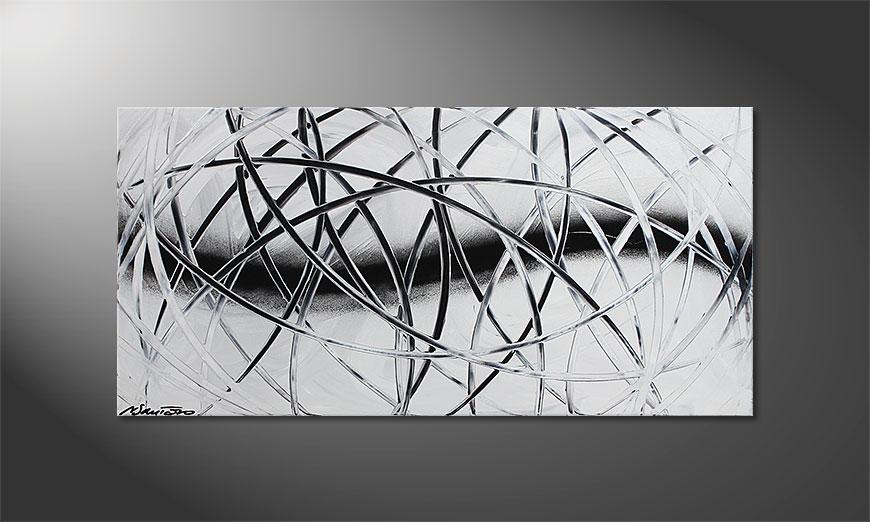 Das Wandbild Snow Traces 100x50x2cm