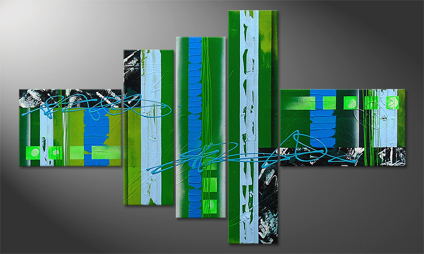Das moderne Wandbild Fresh Momentum 150x90x2cm