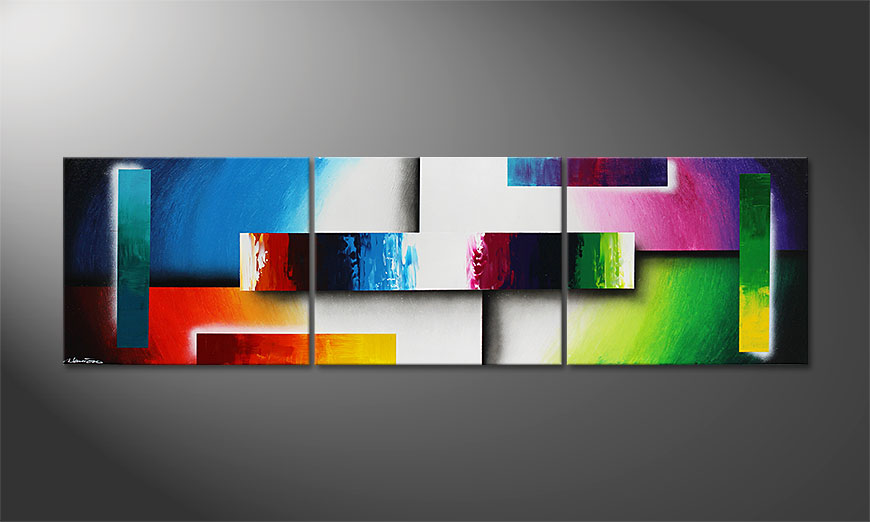 Colour Construction 210x60cm modernes bild