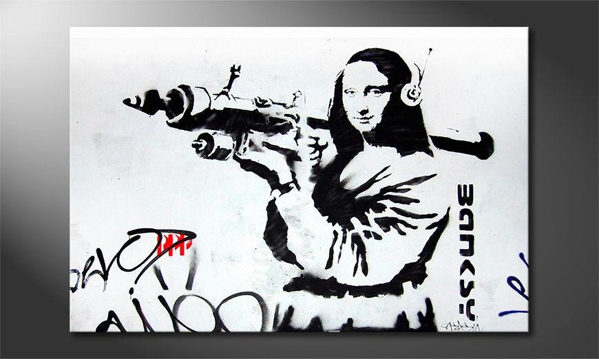 Das Leinwandbild Banksy No1