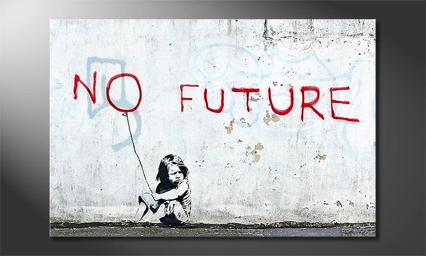 Das Leinwandbild Banksy No10