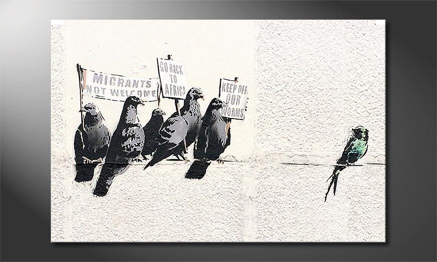 Das Leinwandbild Banksy No11