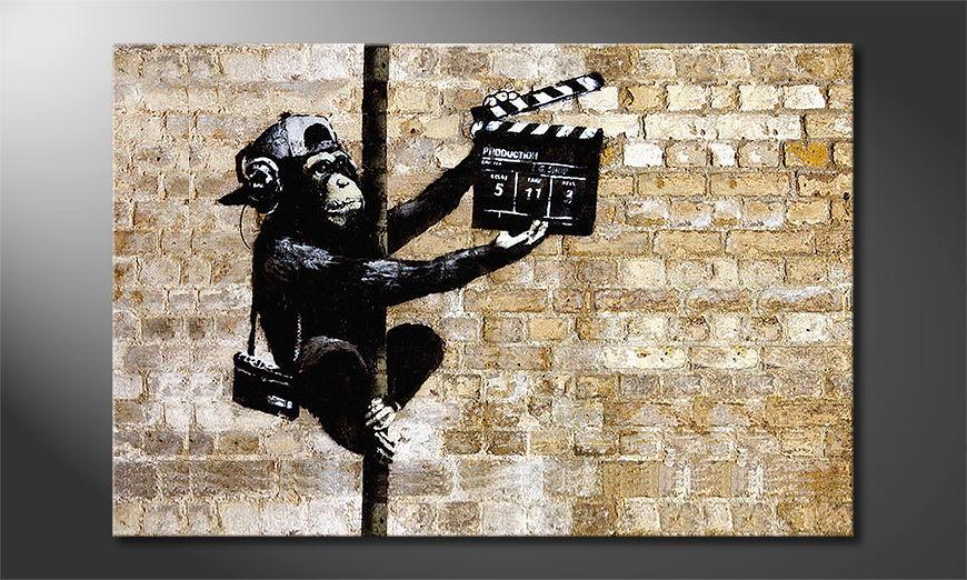 Das Leinwandbild Banksy No13