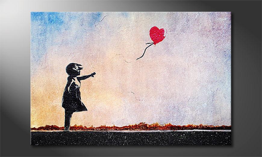 Das Leinwandbild Banksy No14