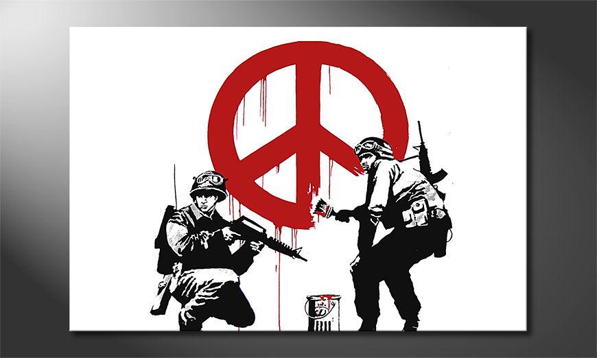 Das Leinwandbild Banksy No15
