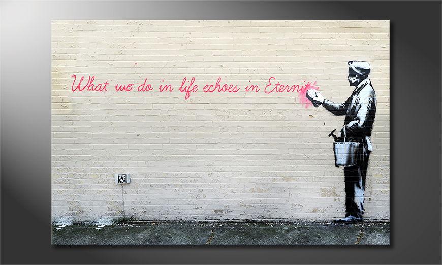 Das Leinwandbild Banksy No17