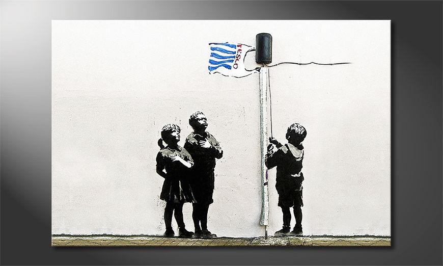 Das Leinwandbild Banksy No18