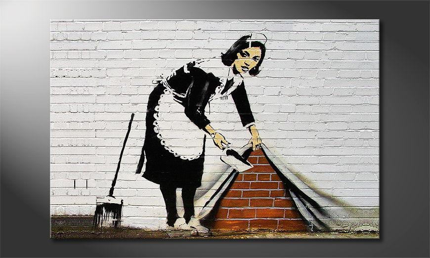 Das Leinwandbild Banksy No19