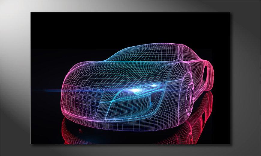 Das Leinwandbild Car from Future